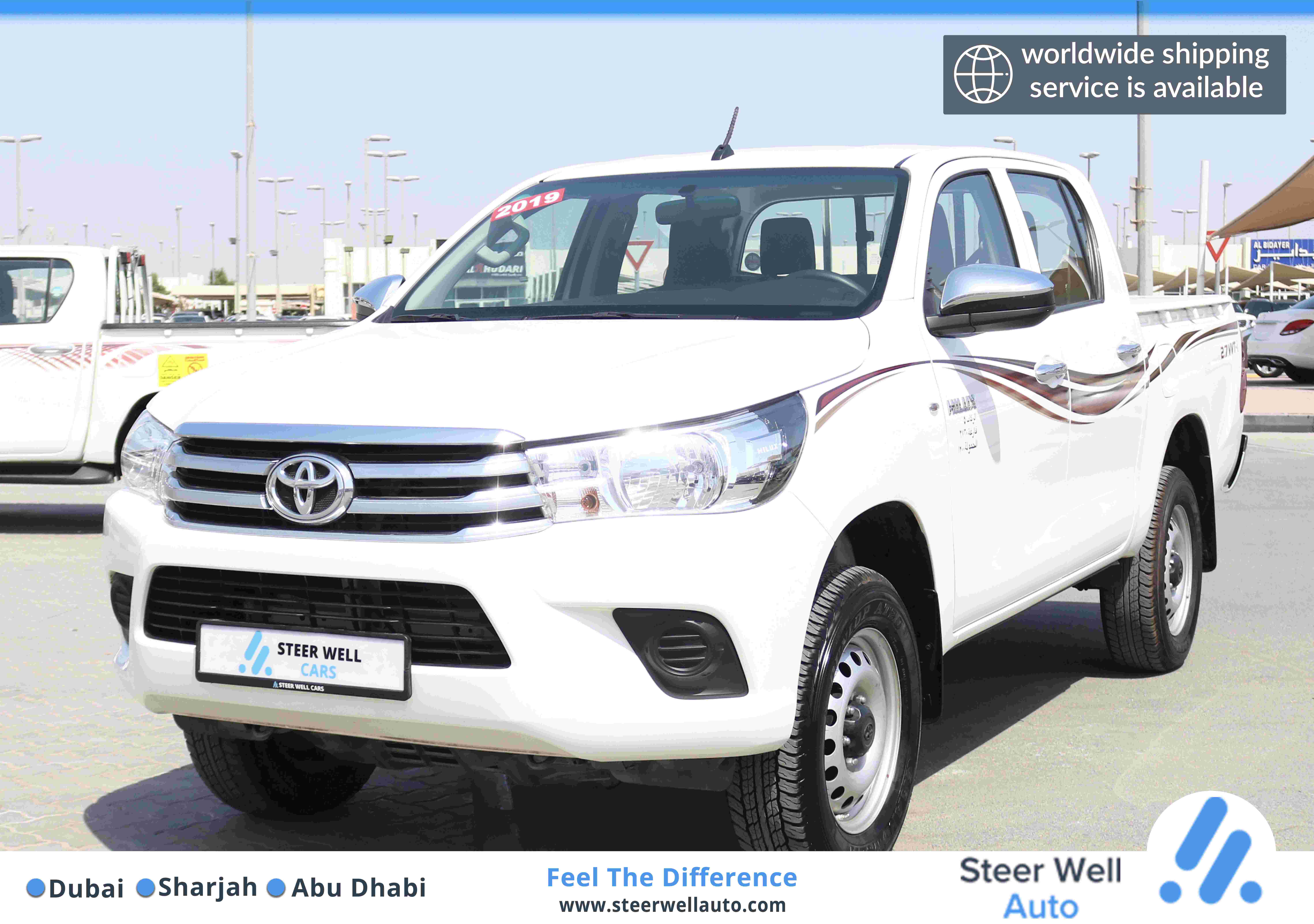 TOYOTA HILUX 4X4 AUTOMATIC WINDOWS MANUAL GEAR PICKUP WITH GCC SPECS